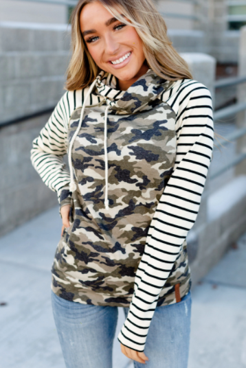 Ampersand Ave Doublehood Camo & Stripe