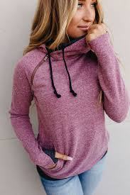 Ampersand Ave DoubleHood Sweatshirt - Blended Berry