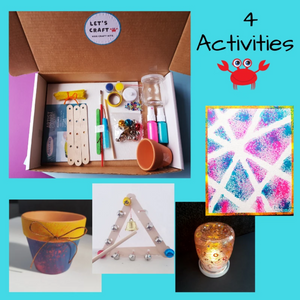 kids craft kit with four diy crafts to make