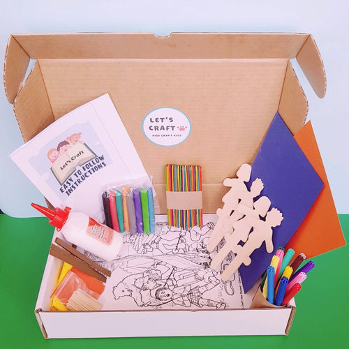 Camping theme craft kit for kids