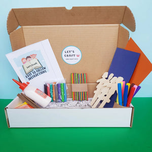 A prepared art & craft activity kit of camping theme for kids which includes all the craft materials and instructions