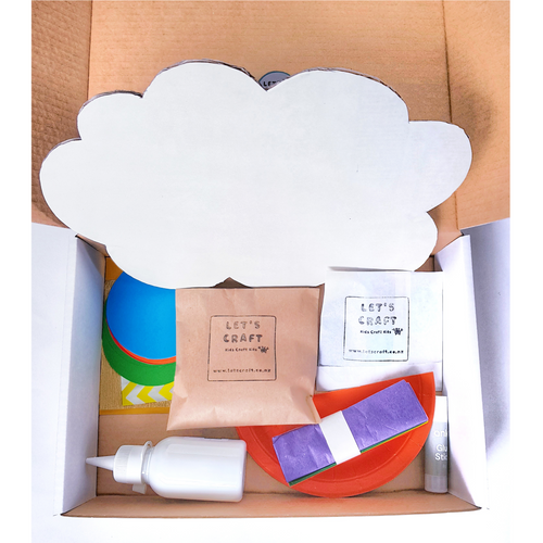 Cloud Craft Kit for kids in the craft box