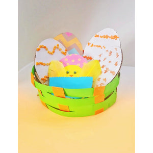 Easter Basket with Easter Eggs Craft for kids