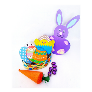 Beautiful Easter bunny craft, easter egg basket craft,  decorating easter egg craft and easter carrot craft for kids.