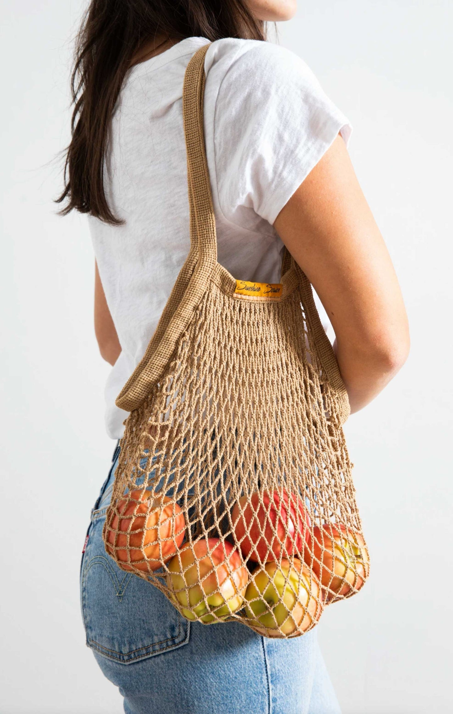 Botanical Dyed Organic Cotton Net Tote