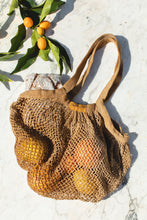 Load image into Gallery viewer, Botanical Dyed Organic Cotton Net Tote