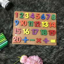 Load image into Gallery viewer, Kids Wooden Numbers Puzzle Board (Intro Price)