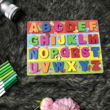 Load image into Gallery viewer, Kids Wooden Alphabet Puzzle Board (Intro Price)