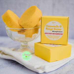 Chamomile and Mango Butter Shampoo Bar (Gentle Scalp Care)