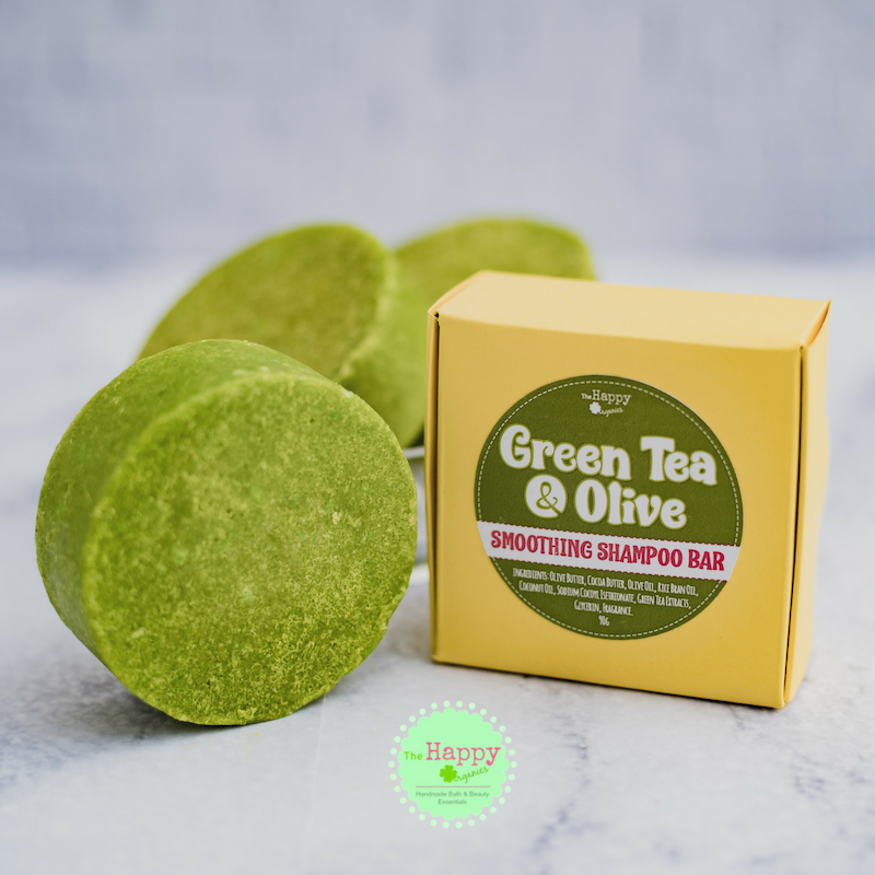 Green Tea and Olive Shampoo Bar (Hair Smoothing)