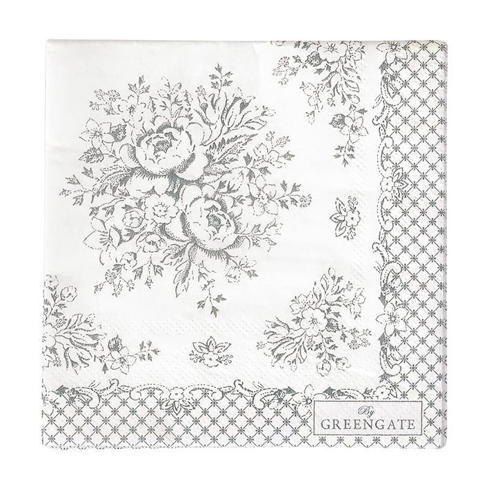 Greengate Paper Napkin Stephanie Warm Grey (Small)