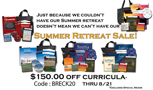 Use Discount Code BRECK20 for $150 savings off curricula*  and $6 workbooks