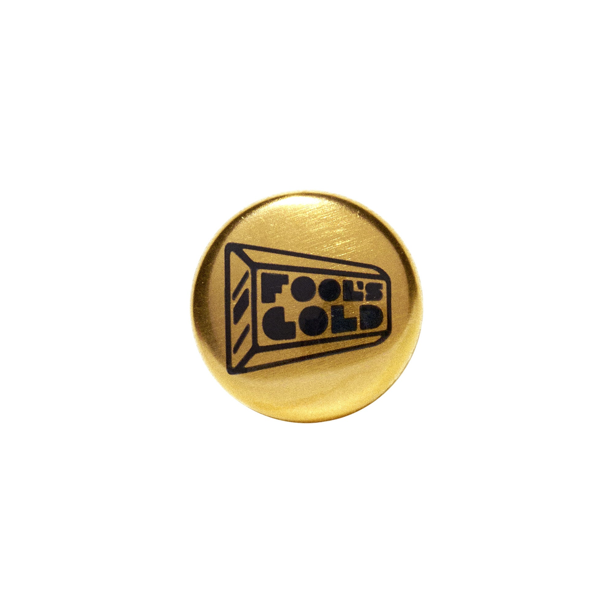 "Fool's Gold ""Logo"" 24k Gold Plated 1"" Pin"