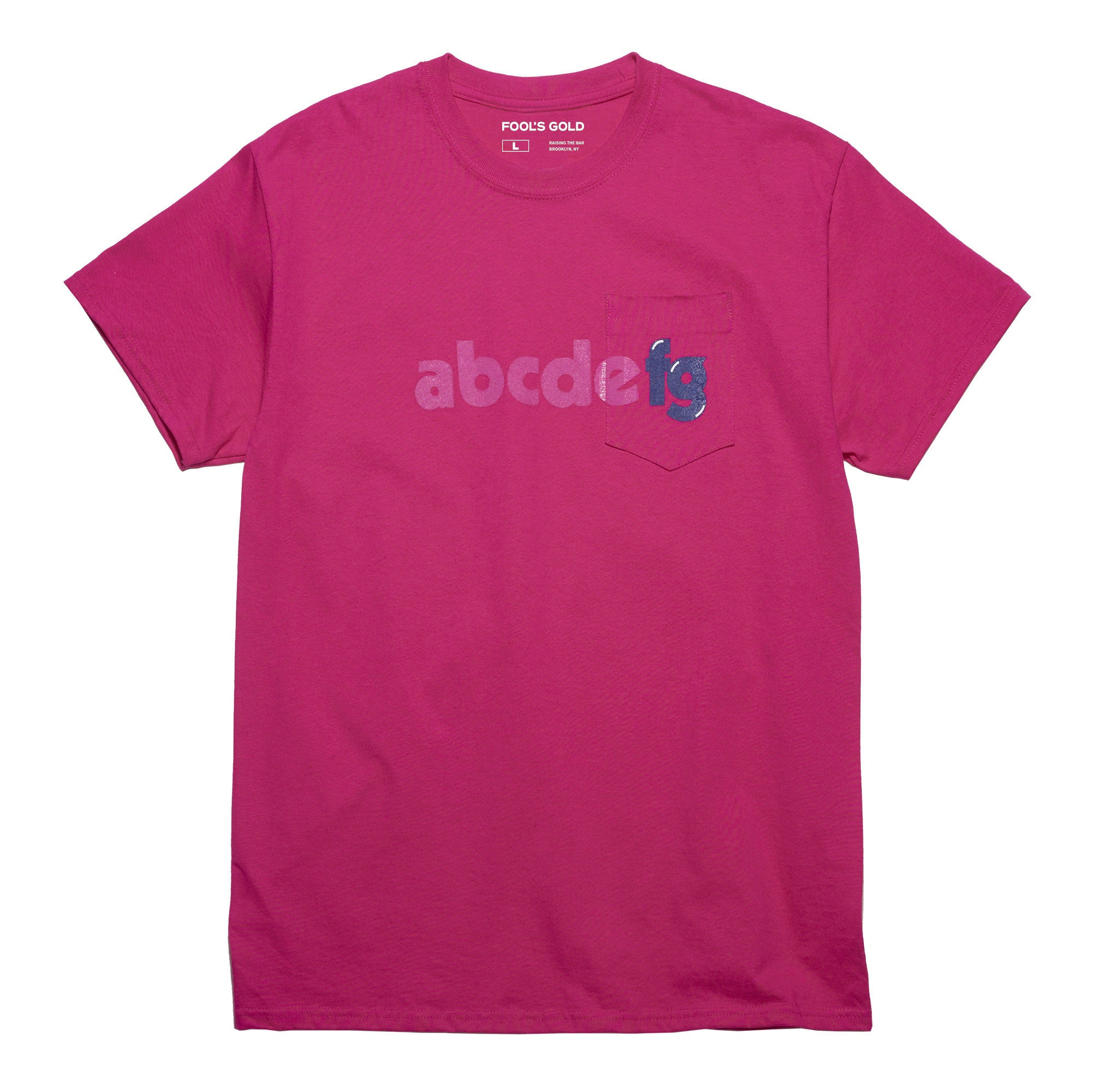 "Fool's Gold ""Alphabetical"" Tee - Pink"