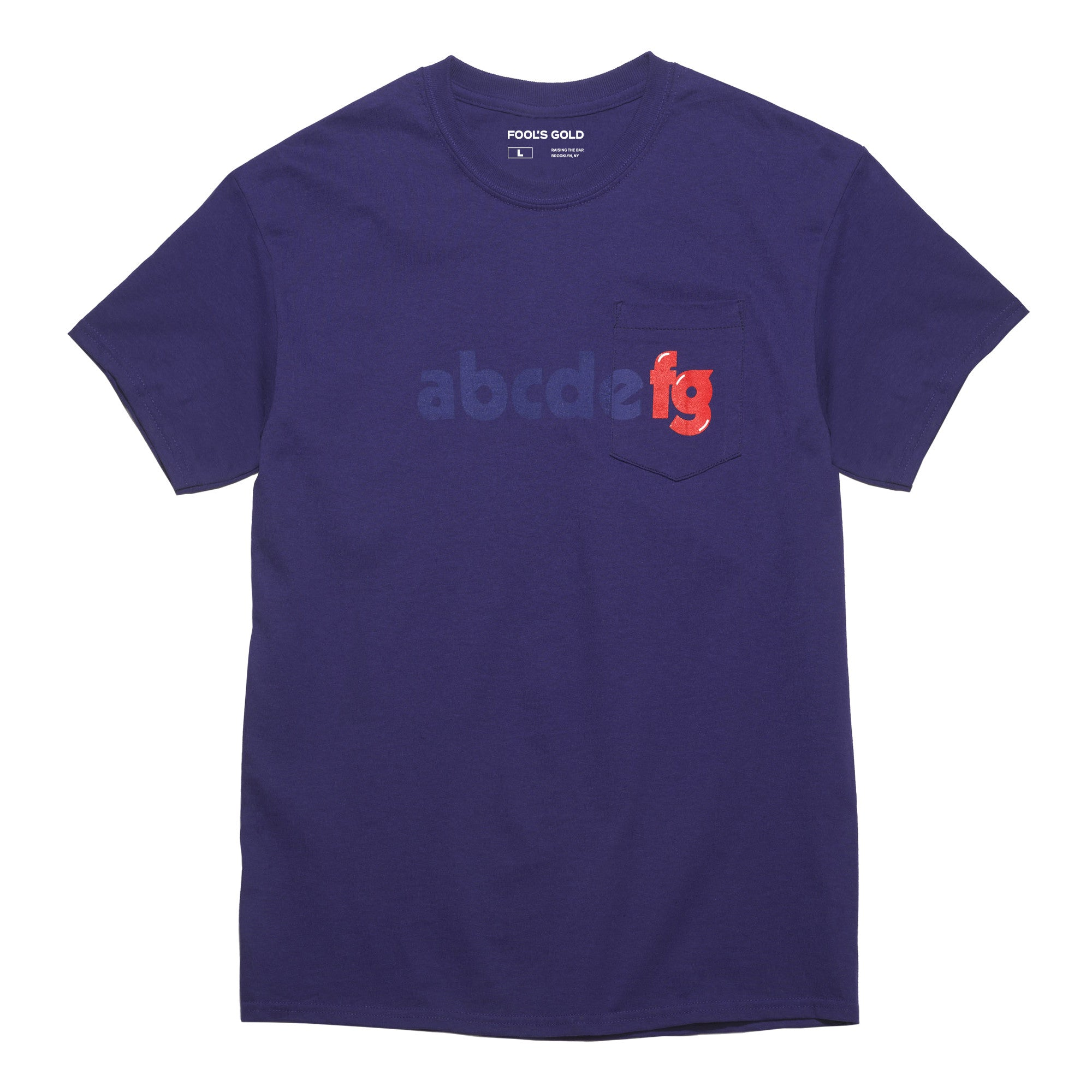 "Fool's Gold ""Alphabetical"" Tee - Purple"
