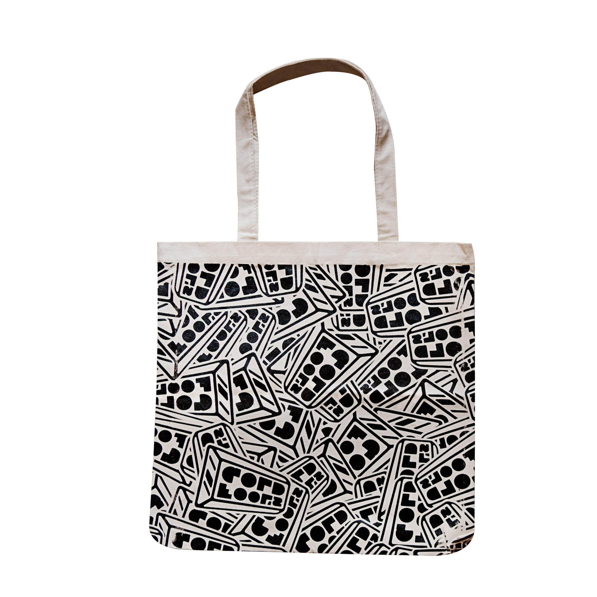 "Fool's Gold ""All Over"" Logo Tote - Natural"