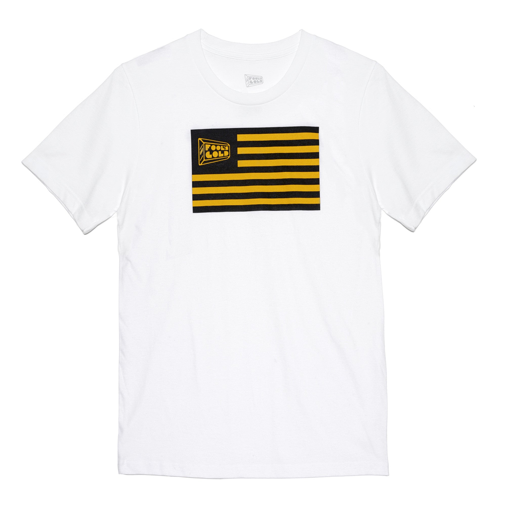 "Fool's Gold ""Flag"" Tee - White"