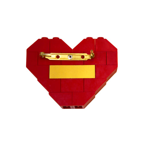 Fool's Gold x Dee & Ricky Lego Heart Pin