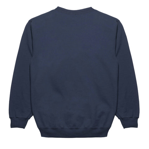 "Fool's Gold ""Spell Out"" Embroidered Crewneck - Navy"