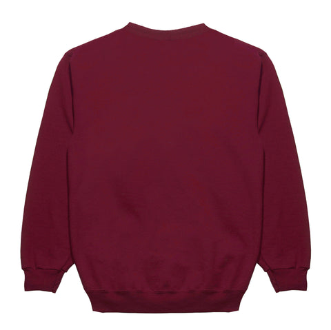 "Fool's Gold ""Spell Out"" Embroidered Crewneck - Burgundy"