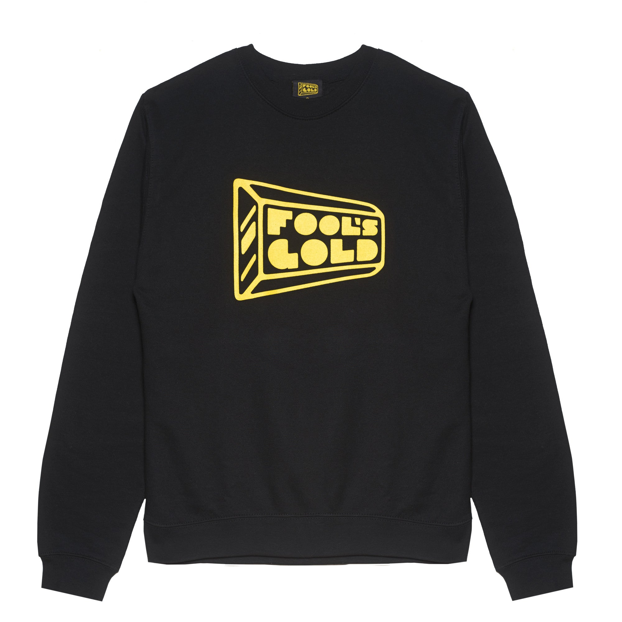 "Fool's Gold ""Logo"" Crewneck - Black / Gold"