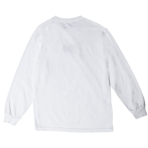 "Fool's Gold ""Micro Logo"" Long Sleeve - White"