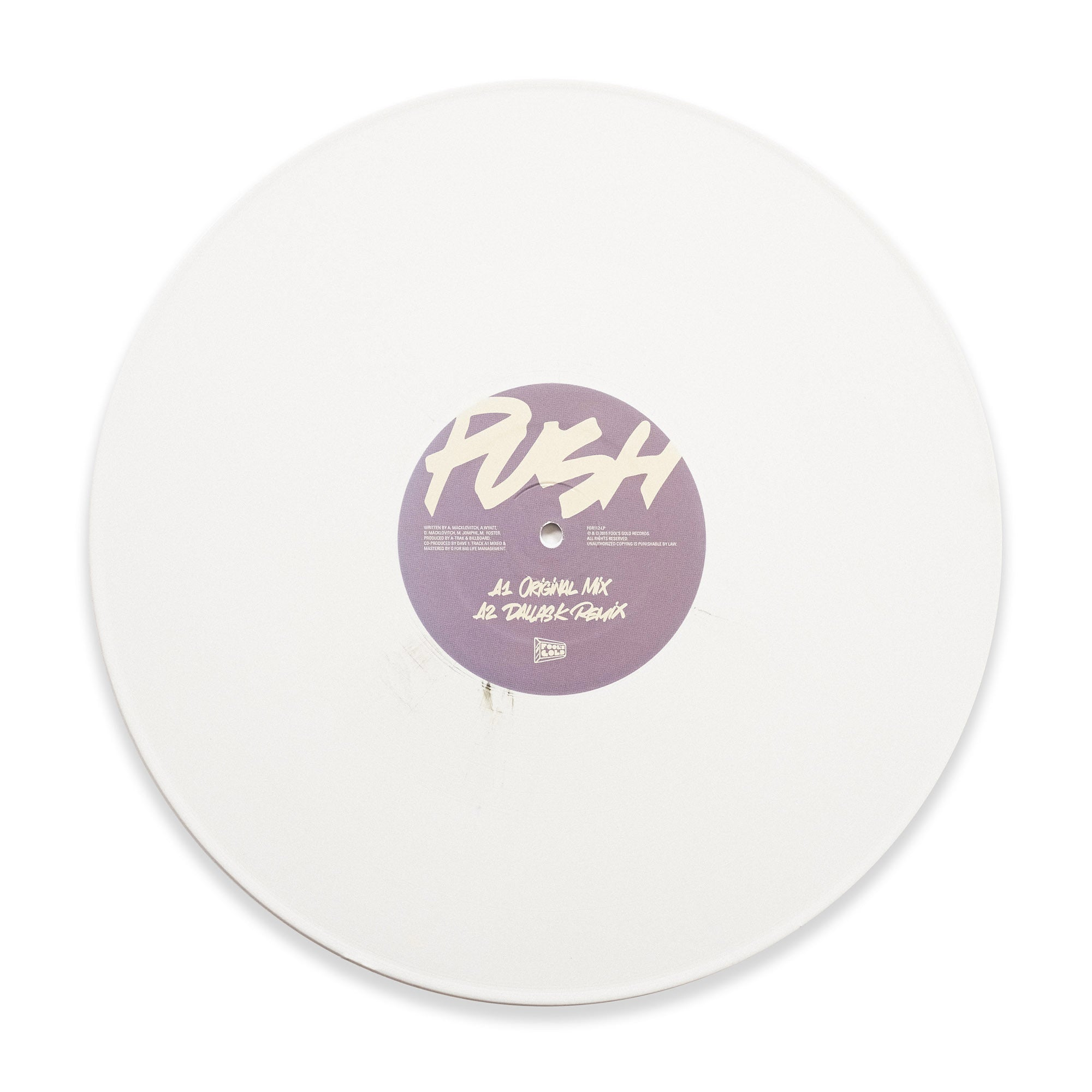 "A-Trak ""Push"" White Color Vinyl"