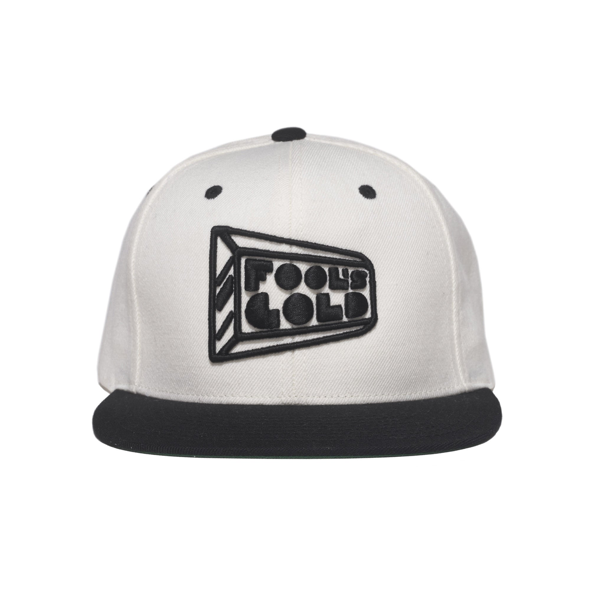 "Fool's Gold ""Logo"" Snapback - White / Black"