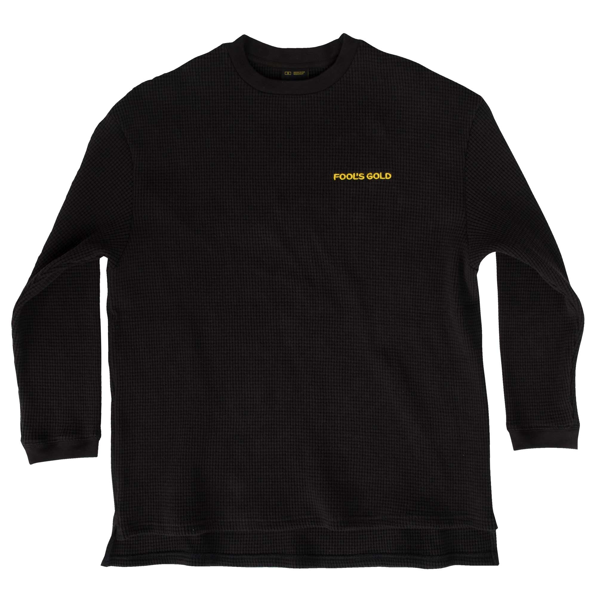 "Fool's Gold ""Spell Out"" Embroidered Thermal - Black"