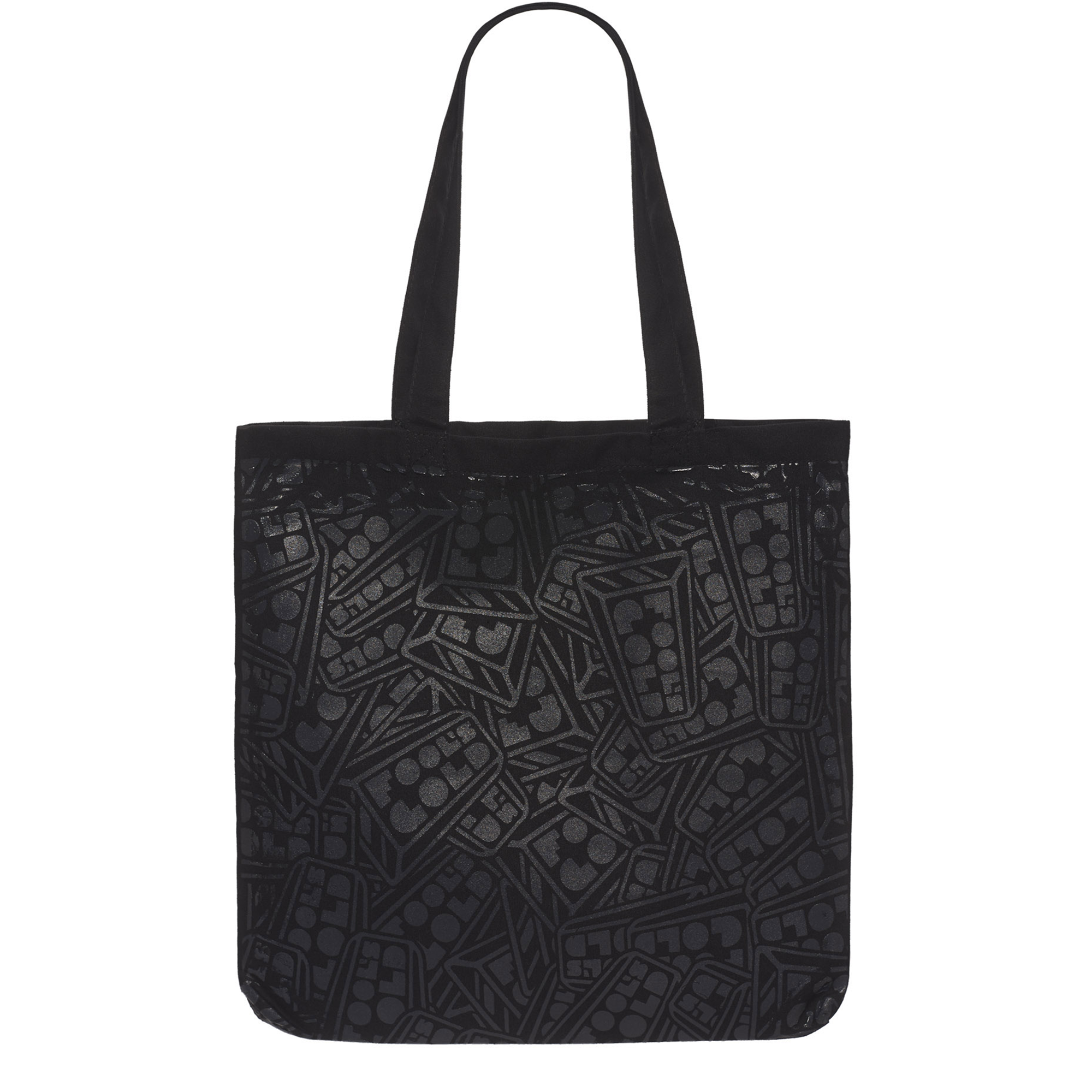 "Fool's Gold ""All Over"" Logo Tote - Black"