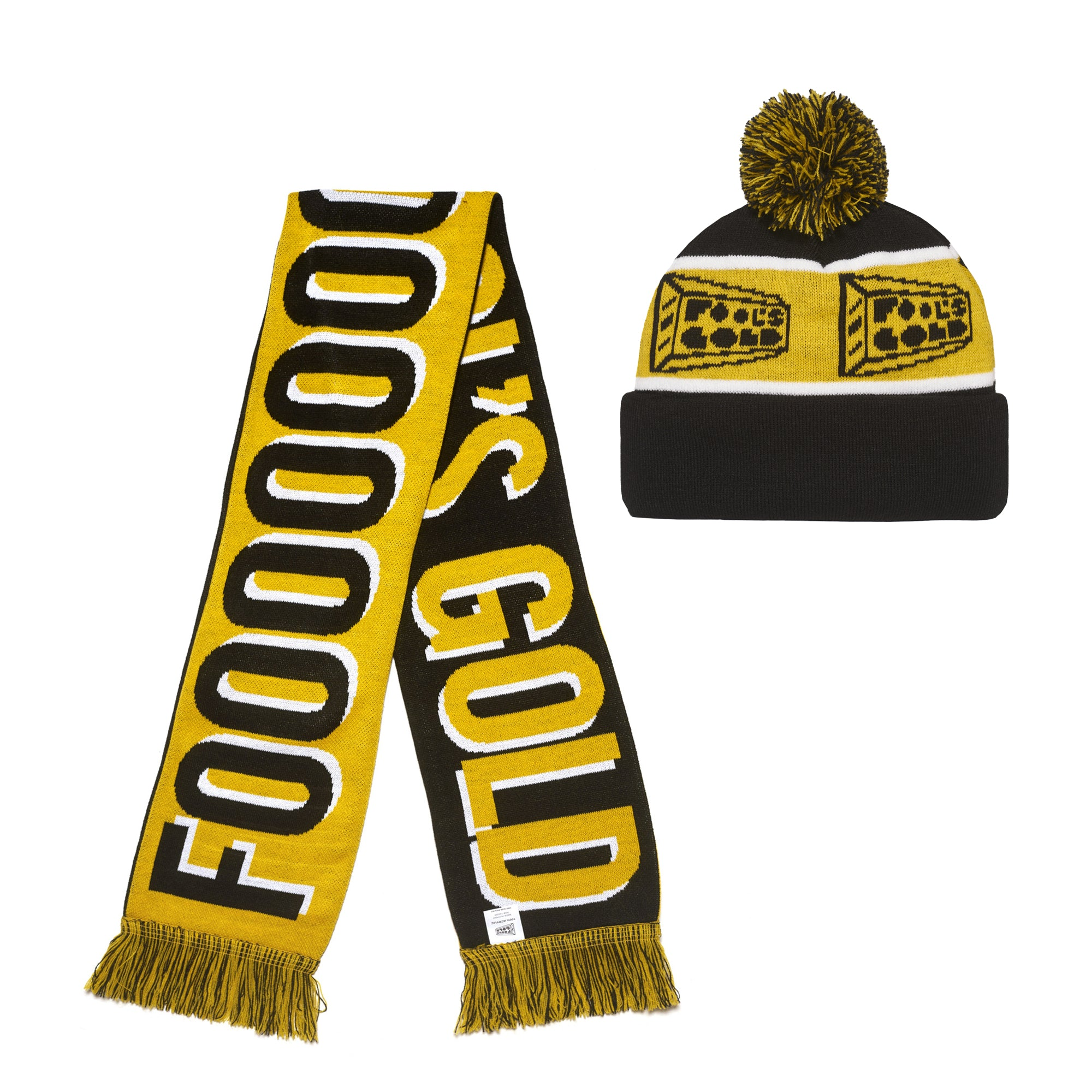 Fool's Gold Winter Hat / Scarf Bundle