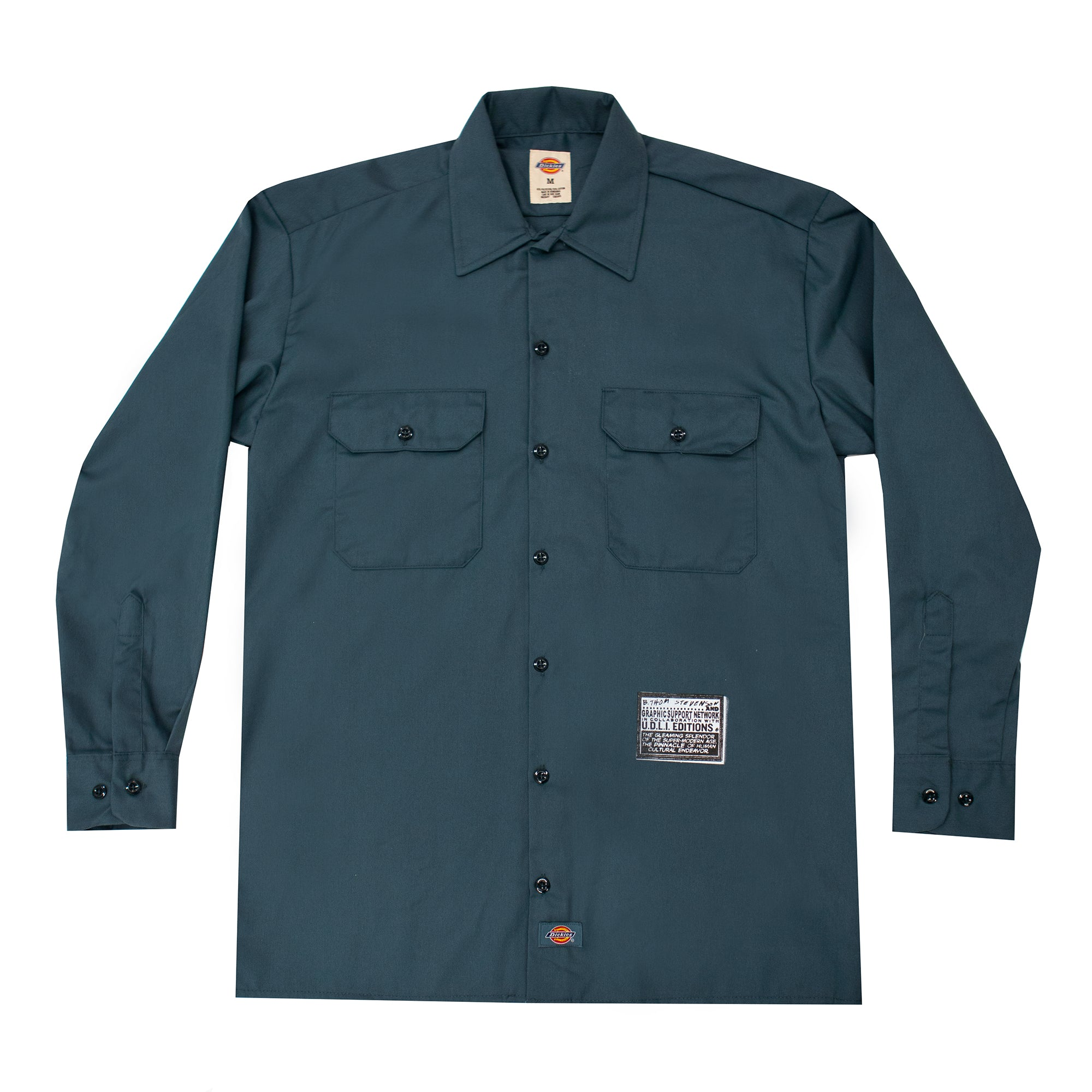 B. Thom Stevenson Customized Dickies Button Down Shirt