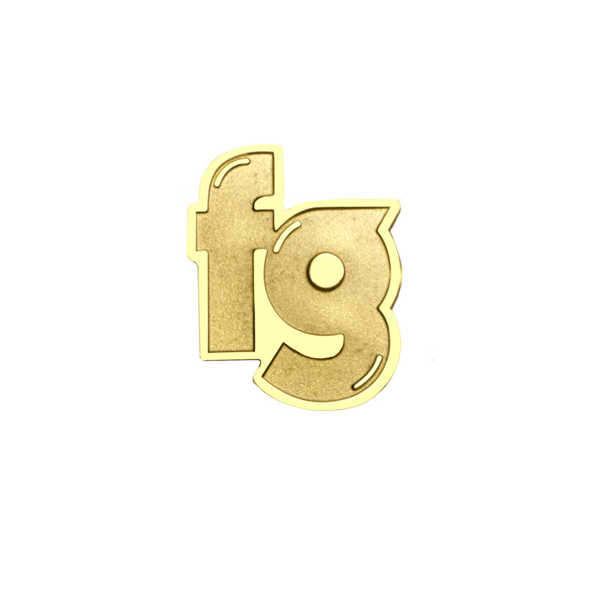 "Fool's Gold ""Alphabetical"" Metal Pin"