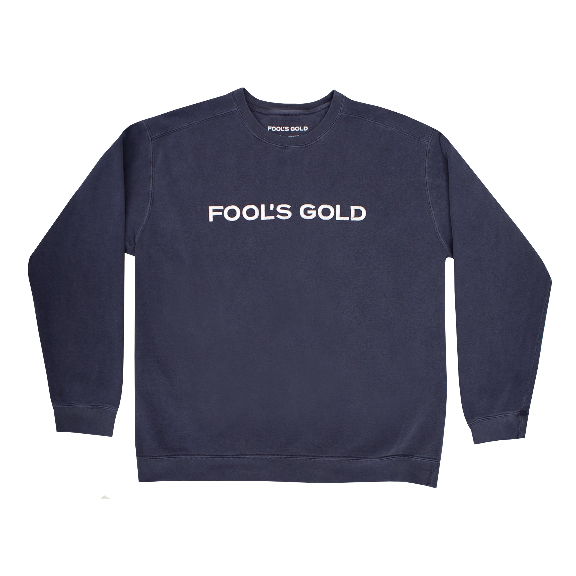 "Fool's Gold ""Spell Out"" Crewneck - Blue"