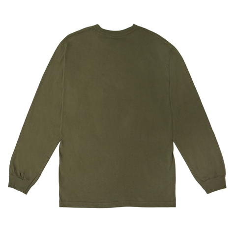 "Fool's Gold ""Micro Logo"" Long Sleeve - Army"