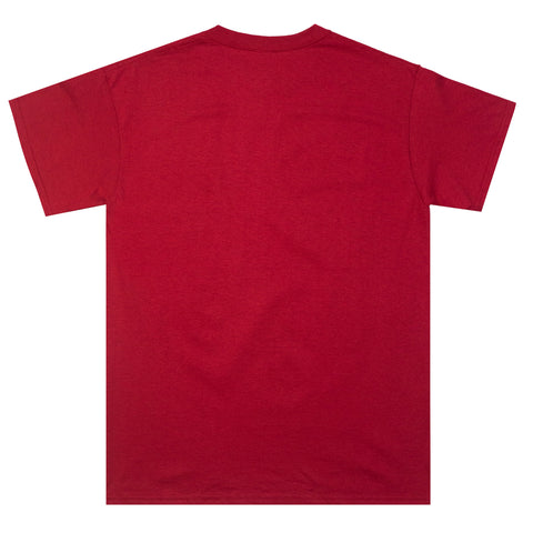 "Fool's Gold ""Rave Logo"" Tee - Sunset Red"