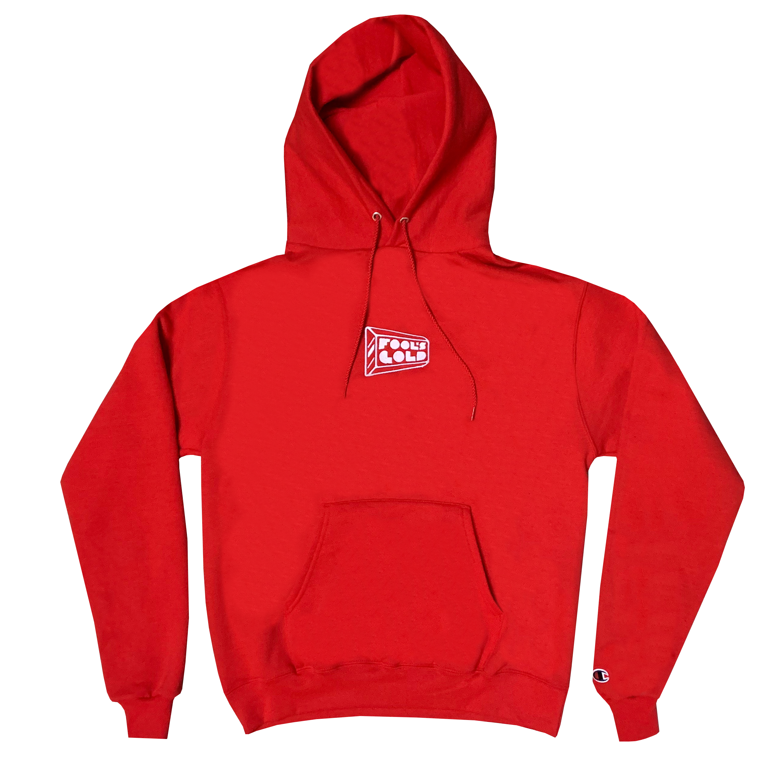 "Fool's Gold ""Micro Logo"" Champion Hoodie - Red"