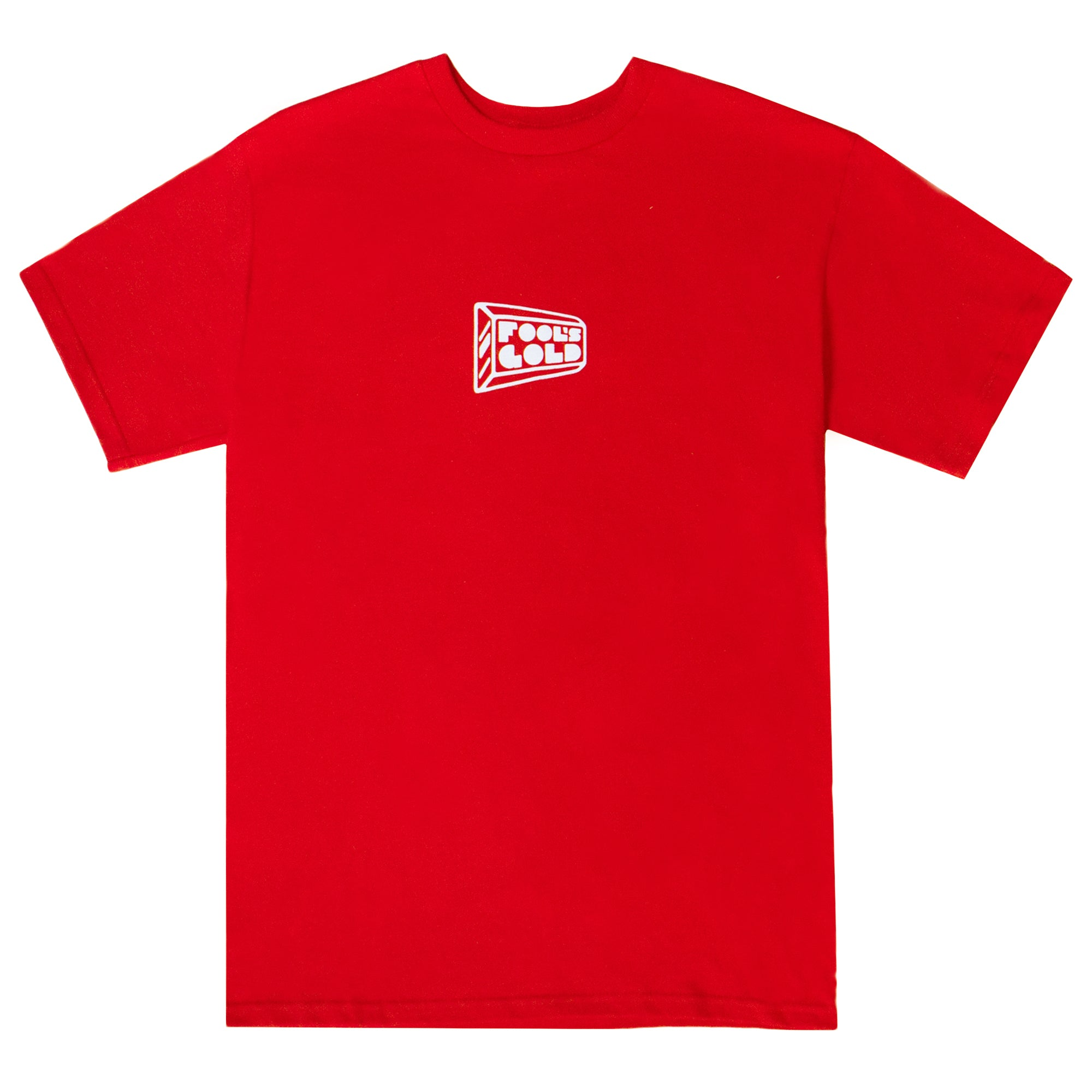"Fool's Gold ""Micro Logo"" Tee - Red"