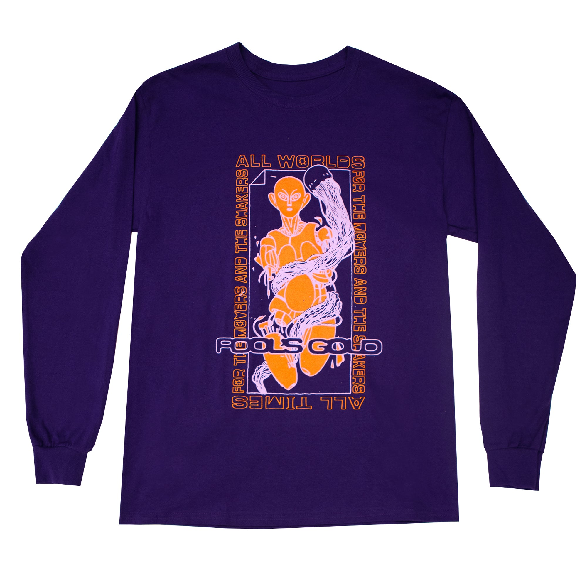"Fool's Gold ""Robot"" Long Sleeve - Purple"