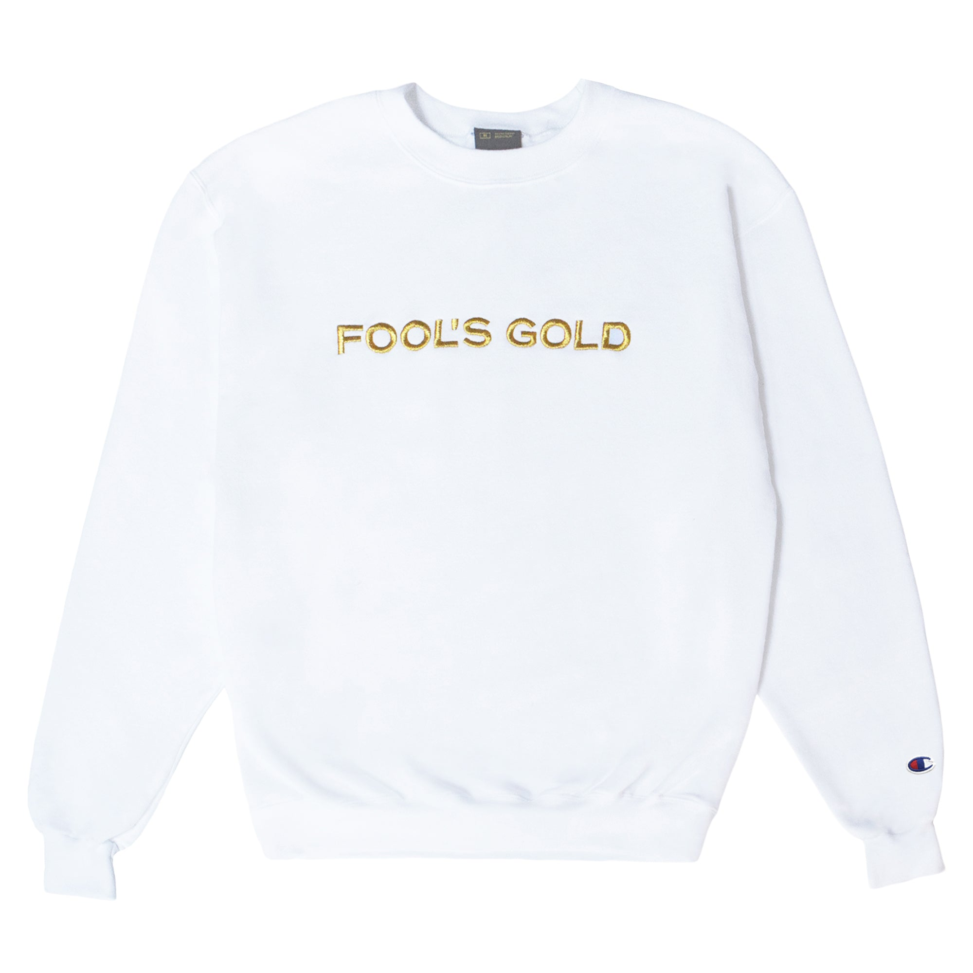 "Fool's Gold ""Spell Out"" Embroidered Champion Crewneck"