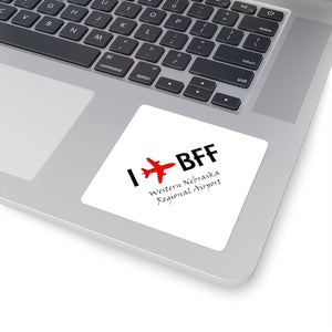 I Fly BFF Square Stickers
