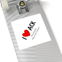 Load image into Gallery viewer, ACK Heart Square Stickers