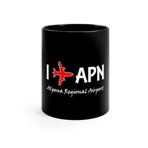 I Fly APN Black mug 11oz