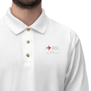 I Fly BDL Men's Jersey Polo Shirt