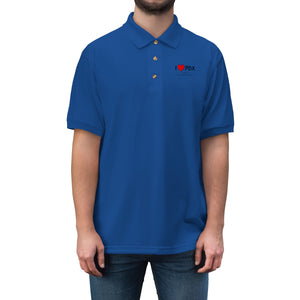 PDX Heart Men's Jersey Polo Shirt