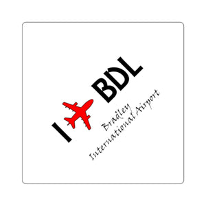 I Fly BDL Square Stickers