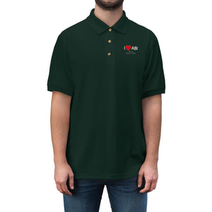 ABI Heart Men's Jersey Polo Shirt