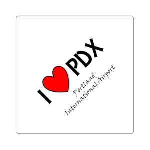 PDX Heart Square Stickers