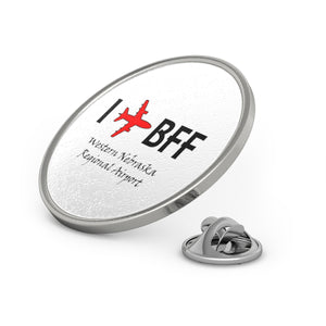 I Fly BFF Metal Pin