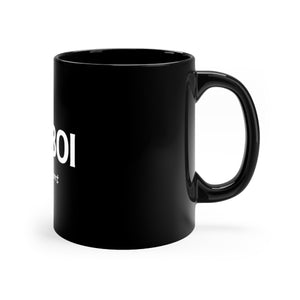BOI Heart Black mug 11oz